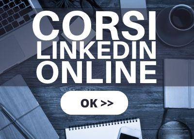 CORSI LINKEDIN ONLINE banner