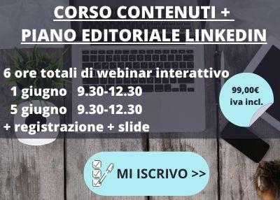 corso contenuti e piano editoriale linkedin online 2020