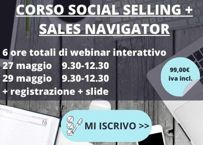 corso social selling e linkedin sales navigator online 2020