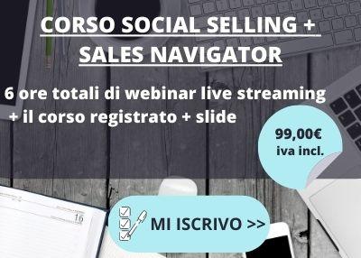 Iscrizione Corso Social Selling e Sales Navigator Linkedin